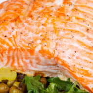 salmon and lentils