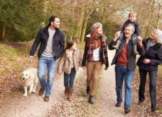 Taking a walk to enjoy the holidays with chronic pain
