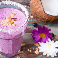 coconut blueberry smoothie