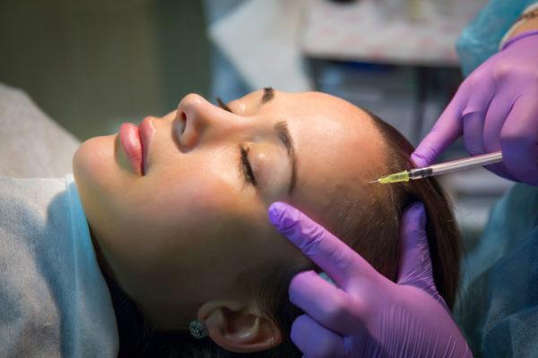 Woman getting Botox for trigeminal neuralgia