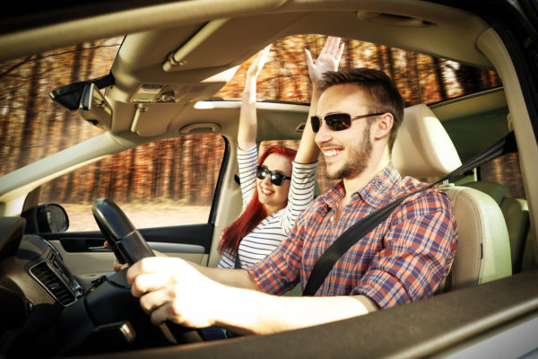 Couple taking scenic drive and enjoy the holidays with chronic pain